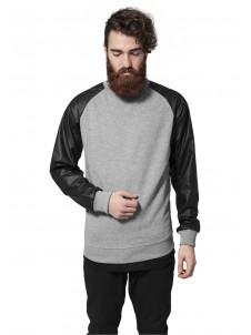 Raglan Leather Imitation Grey/Black
