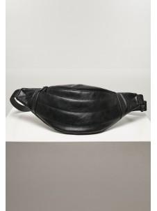 Puffer Imitation Leather Shoulder Bag Black