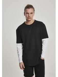 Oversized Shaped Double Layer Black/White