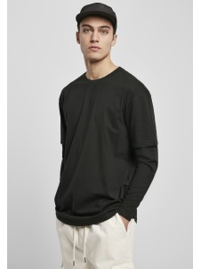 Oversized Shaped Double Layer LS Black