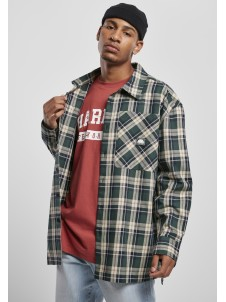 SP029 Check Flannel Shirt Green
