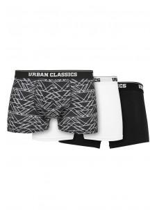 Organic Boxer Shorts 3-Pack tron aop+white+black L