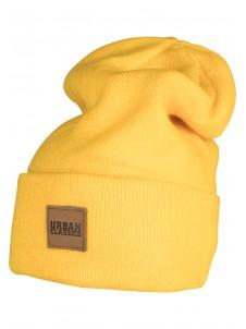 Czapka Zimowa Leatherpatch Long Beanie Yellow