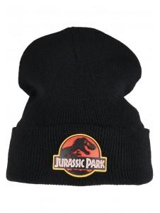 Zimowa Czapka Jurassic Park Logo Beanie Black