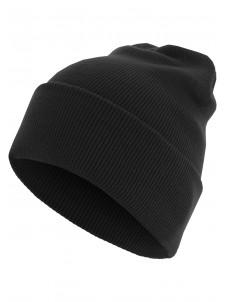 Zimowa Czapka Beanie Basic Flap Long Version Black