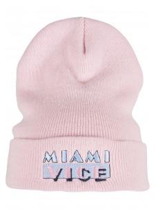 Zimowa Czapka Miami Vice  Logo Beanie Pink