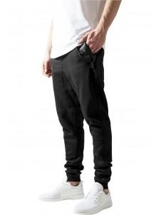 Spodnie Dresowe Side Zip Leather Pocket Black