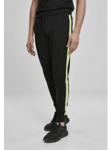 Spodnie Dresowe Neon Striped Black/Electriclime
