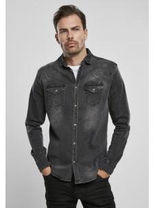 Koszula Riley Denim Shirt Black