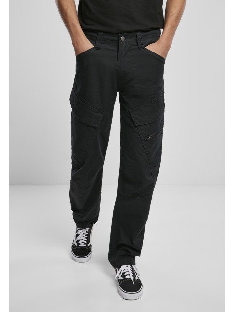 Spodnie Bojówki Adven Slim Fit Cargo Black