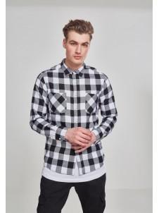 Koszula Flanelowa Checked Flanell Shirt Black/White