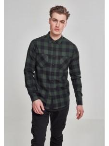 Koszula Flanelowa Checked Flanell Shirt Black/Forest
