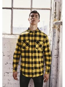Koszula Flanelowa Checked Flanell Shirt Black/Honey