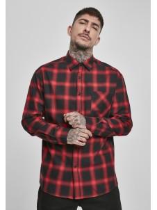 Koszula Oversized Checked Shirt Black/Red