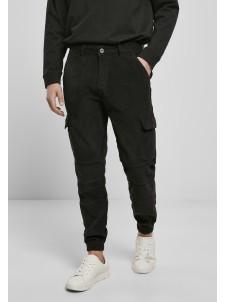 Spodnie Joggery Corduroy Cargo Black