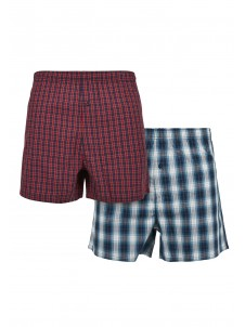 Bokserki Woven Plaid Boxer Shorts 2-Pack Red/Blue