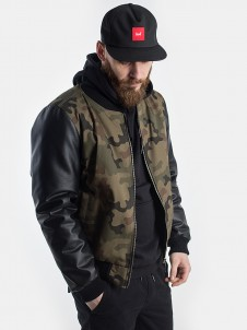 Leather Slaves Bomber Camo/Black