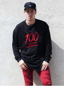100 Oversized Black