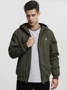 TB 1805 Hooded Cotton Dark Olive