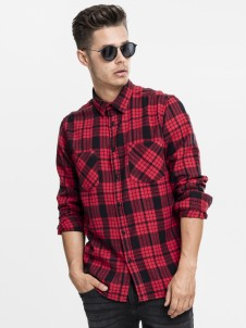 TB 1422 Checked Flanell Black/Grey/Red