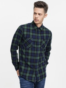 TB  1422 Checked Flanell Forest/Navy/Black