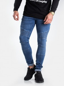TB 1436 Slim Biker Blue Washed