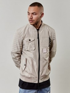 Bomber Pleated Beige