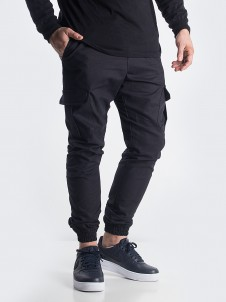 Jogger Cargo Label Black