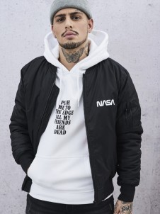 MT 636 NASA Worm Logo Bomber Black