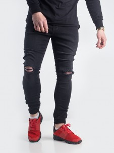 TB 1652 Knee Cut Black Washed
