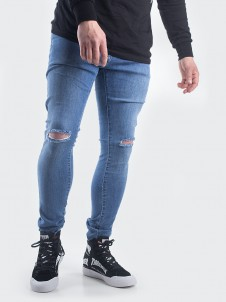 TB 1652 Knee Cut Blue Washed
