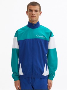 Full Zip Top Blue/White