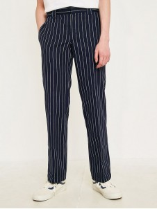 WP 873 Stripe Pant Dark Blue