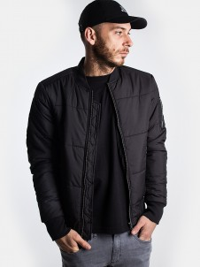 TB 1444 Basic Quilt Bomber Black