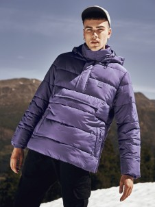 TB 2424 Pull Over Puffer Purple
