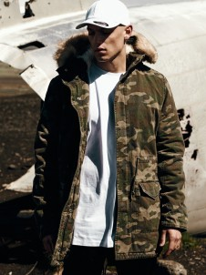 TB 1811 Garment Washed Parka Camo