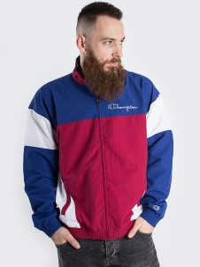 Full Zip Top Navy/Burgundy