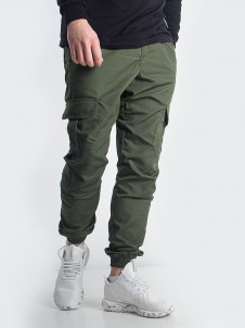 Jogger Cargo Label Ripstop Olive
