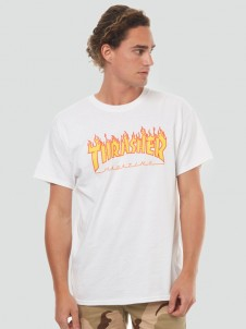 Flame Logo White