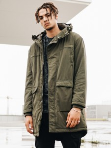 TB 1461 Cotton Peached Parka Olive