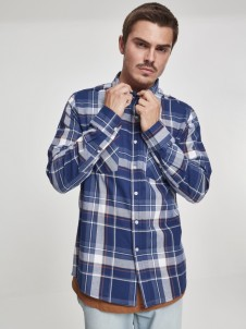 Checked Flanell TB 2520 Indygo/White