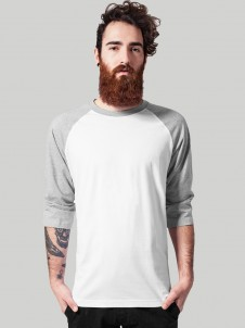 TB 366 Raglan White/Grey