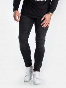 TB 1436 Slim Biker Black Washed