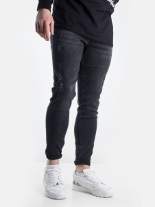 TB 1606 Skinny Ripped Black Wash
