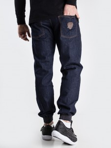 Leather Shield Jogger Dark Blue