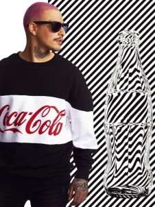 MC 166 Coca Cola Oversize Black/White
