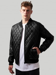TB 1150 Diamond Quilt Leather Black