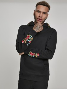 MT 849 Flowers Embroidery Black
