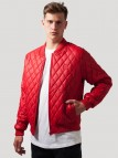 TB 1150 Diamond Quilt Leather Red