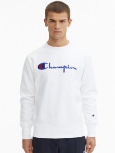 Script Logo Reverse Weave White